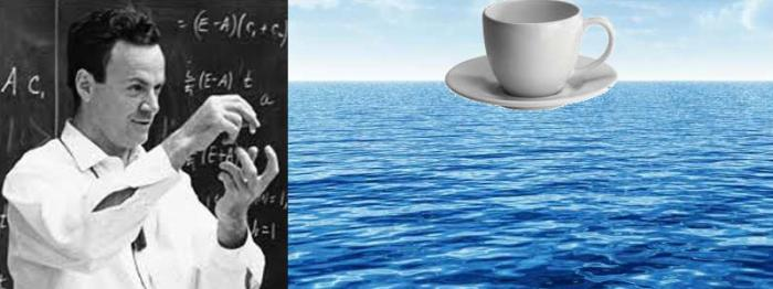 Richard Feynman, The Nobel Prize winning physicists made the now infamous statement that There was enough energy in this cup to boil all the oceans of the world. He was a believer in free energy, and hinted at it often.